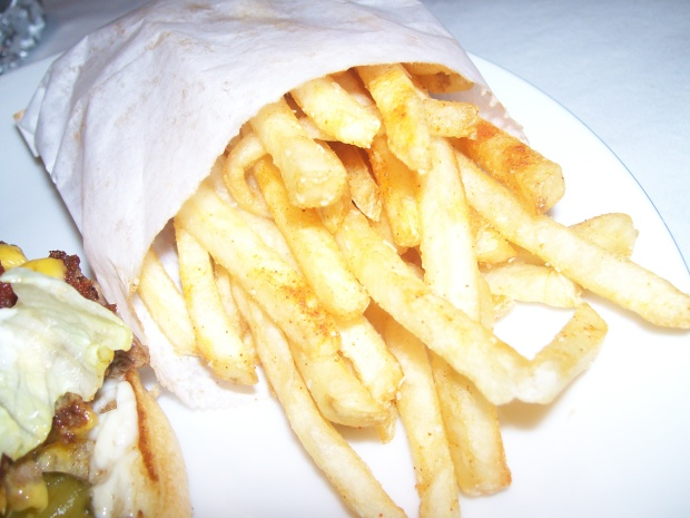 crazy good burgers fries
