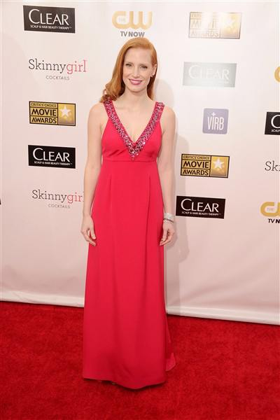 jessica chastain 2013 critics' choice awards