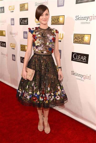 marion cotillard 2013 critics' choice movie awards