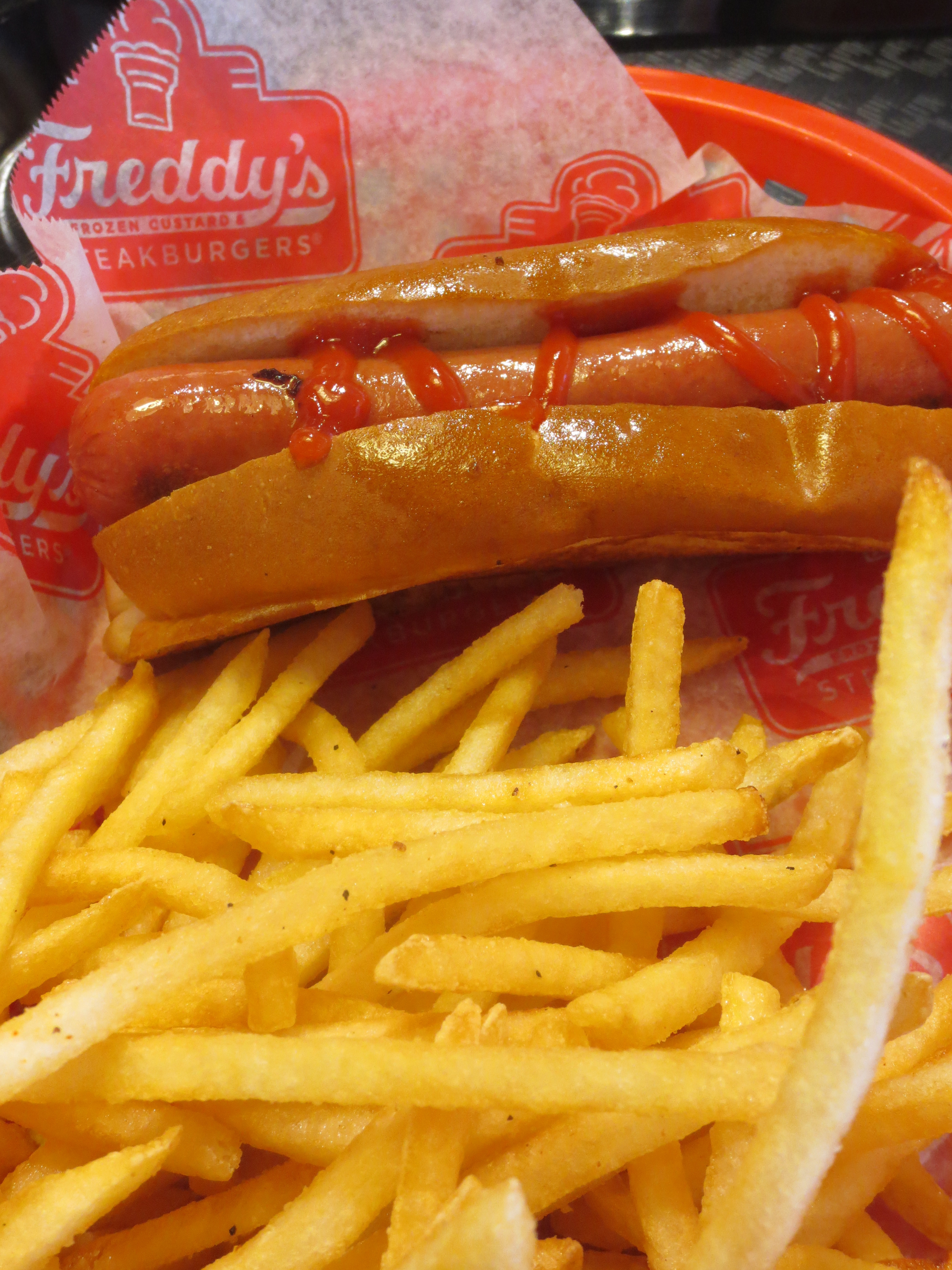 Freddy's Frozen Custard and Steakburgers Hot Dog and Fries