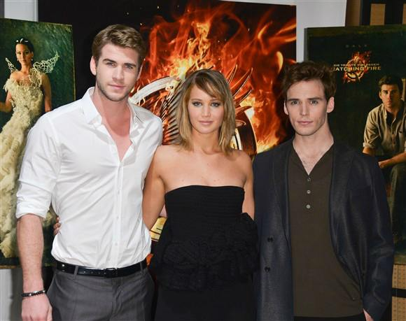 liam hemsworth jennifer lawrence  sam clafin 2013 cannes