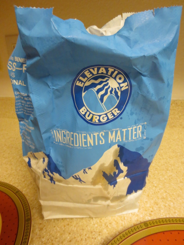 This is just one angle of this incredibly greasy bag. It almost fell apart.