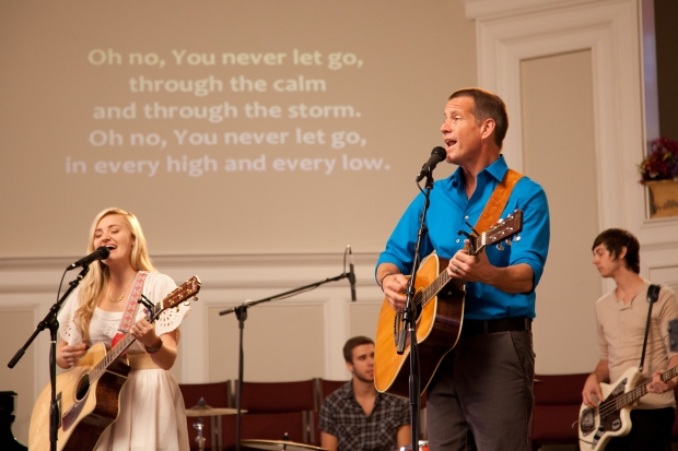 AJ Michalka and James Denton play father-daughter worship duo Grace and Johnny Trey, who are torn apart when she runs away to Los Angeles to pursue pop stardom in GRACE UNPLUGGED, coming to theaters Oct. 4 from Lionsgate and Roadside Attractions.